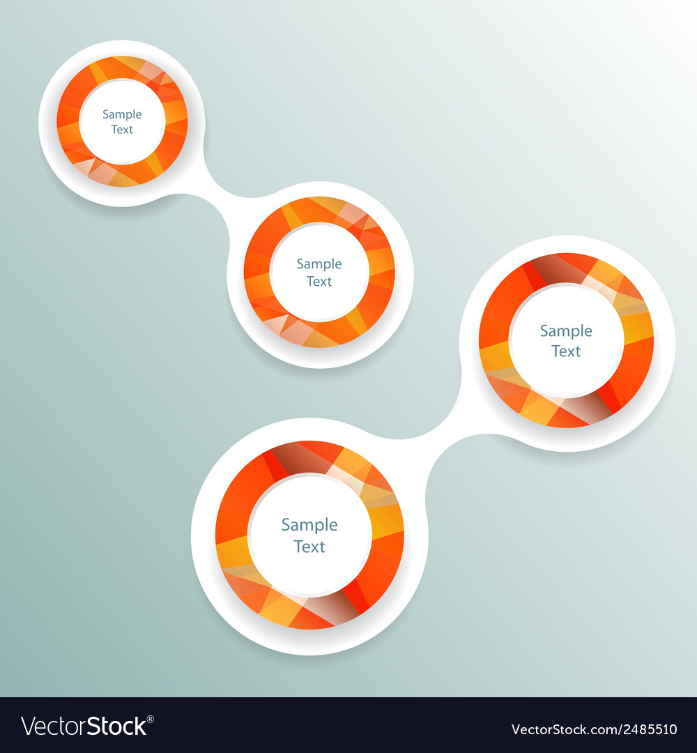 Colorful round metaball diagram infographics vector | Price: 1 Credit (USD $1)
