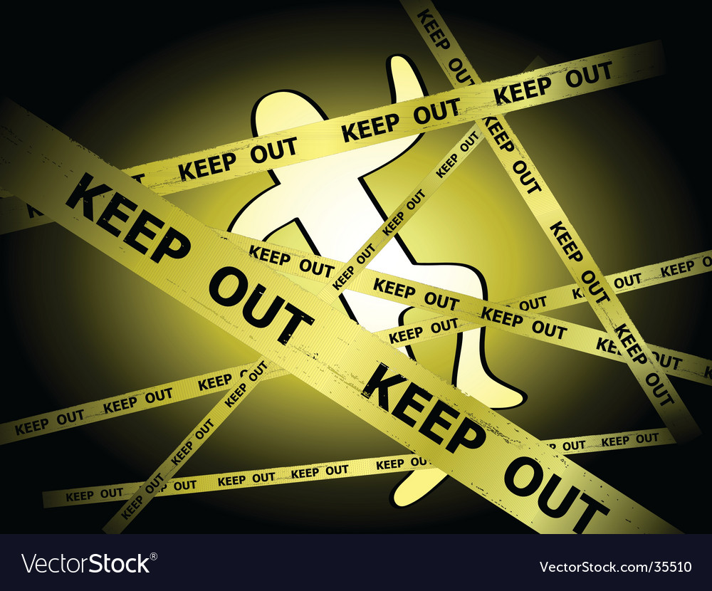 Crime scene vector | Price: 1 Credit (USD $1)