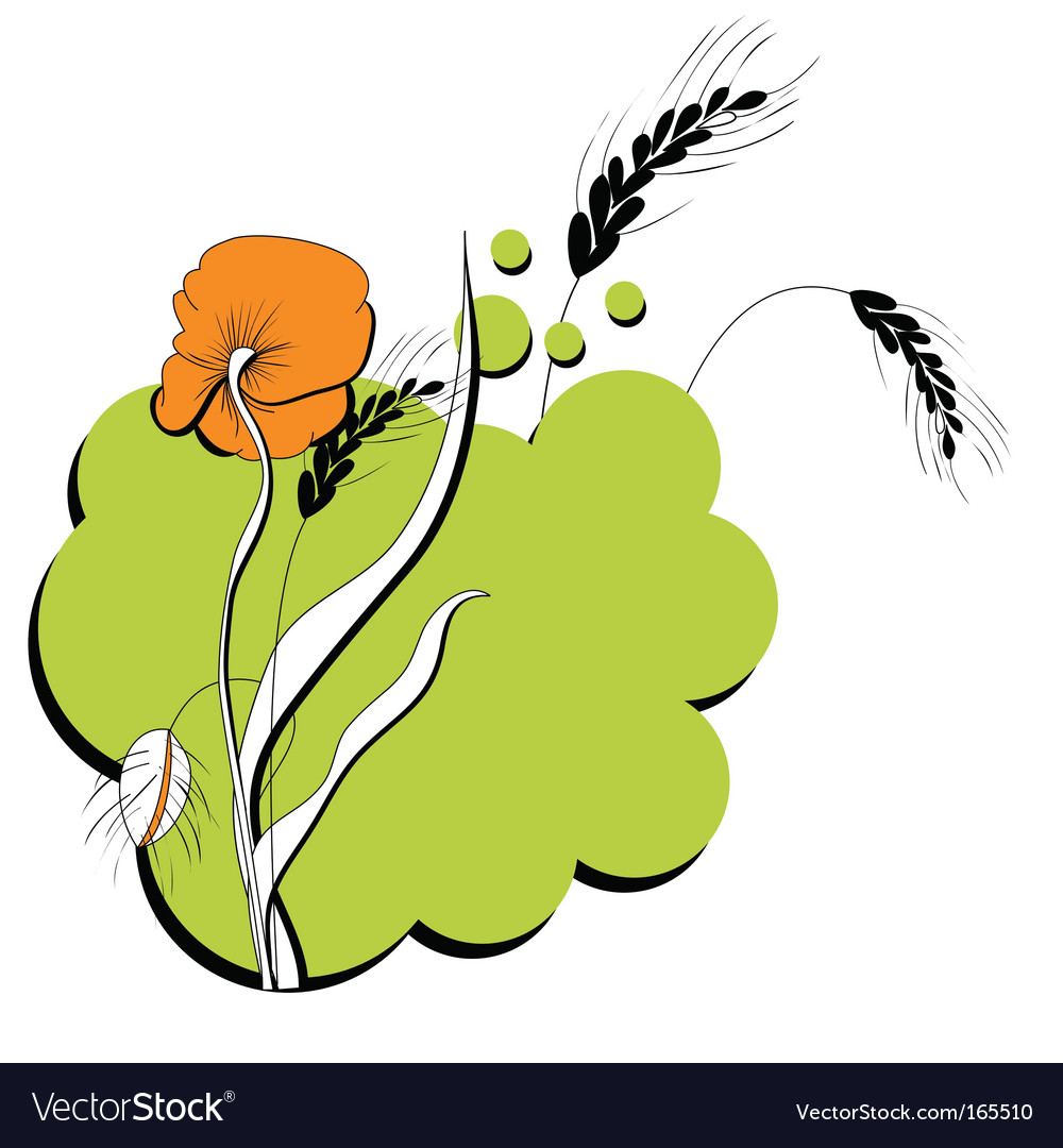 Flower print vector | Price: 1 Credit (USD $1)