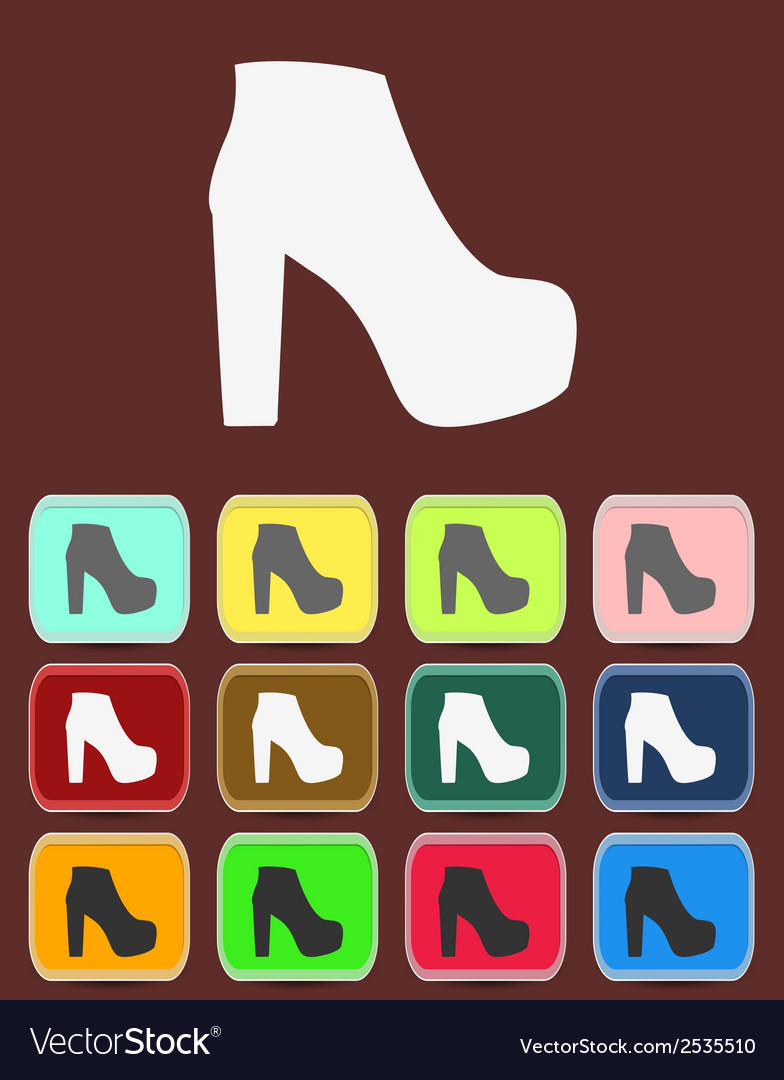 Isolated jackboot with color variations vector   Price: 1 Credit (USD $1)