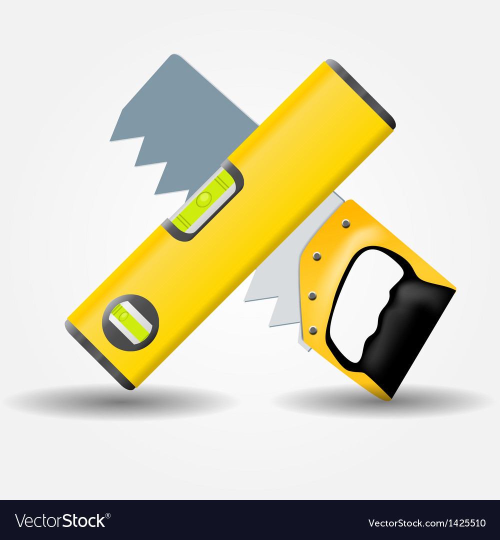 Level and saw icon vector | Price: 1 Credit (USD $1)