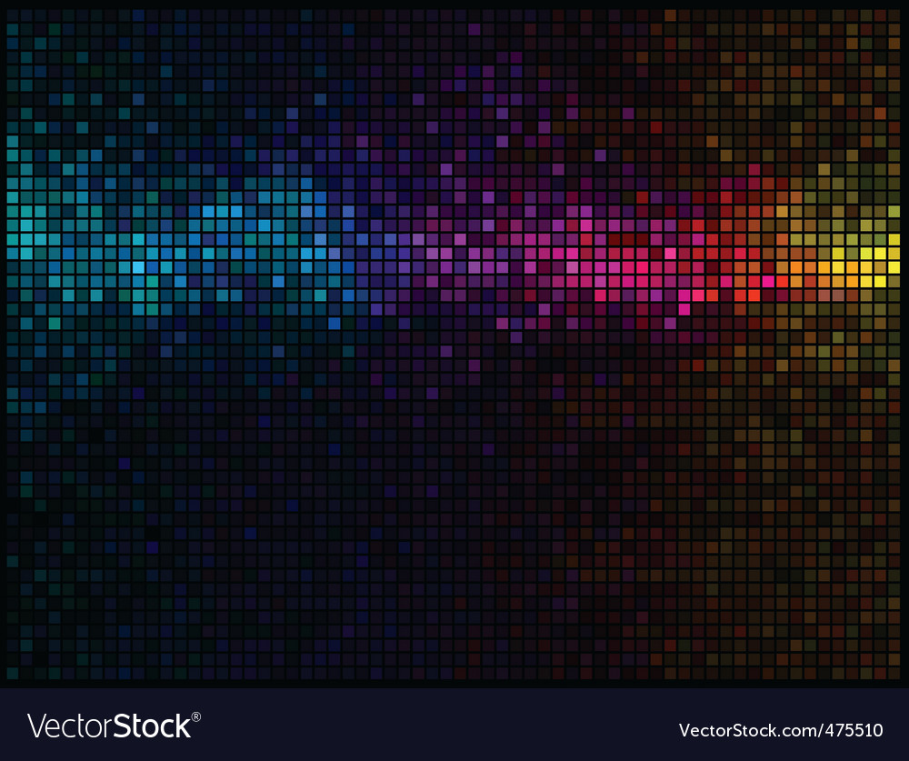 Multicolor abstract lights disco background vector | Price: 3 Credit (USD $3)