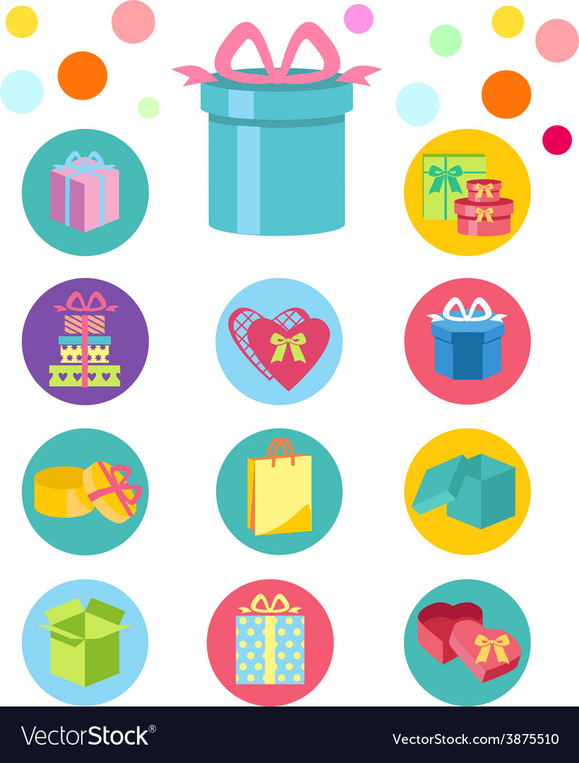 Open and closed box icons vector | Price: 1 Credit (USD $1)