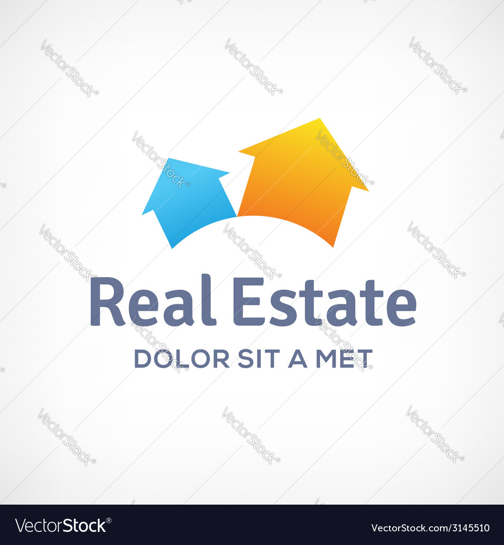 Real estate logo icon design template with houses vector | Price: 1 Credit (USD $1)