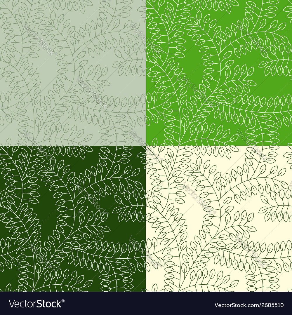 Seamless pattern made of leaves vector | Price: 1 Credit (USD $1)