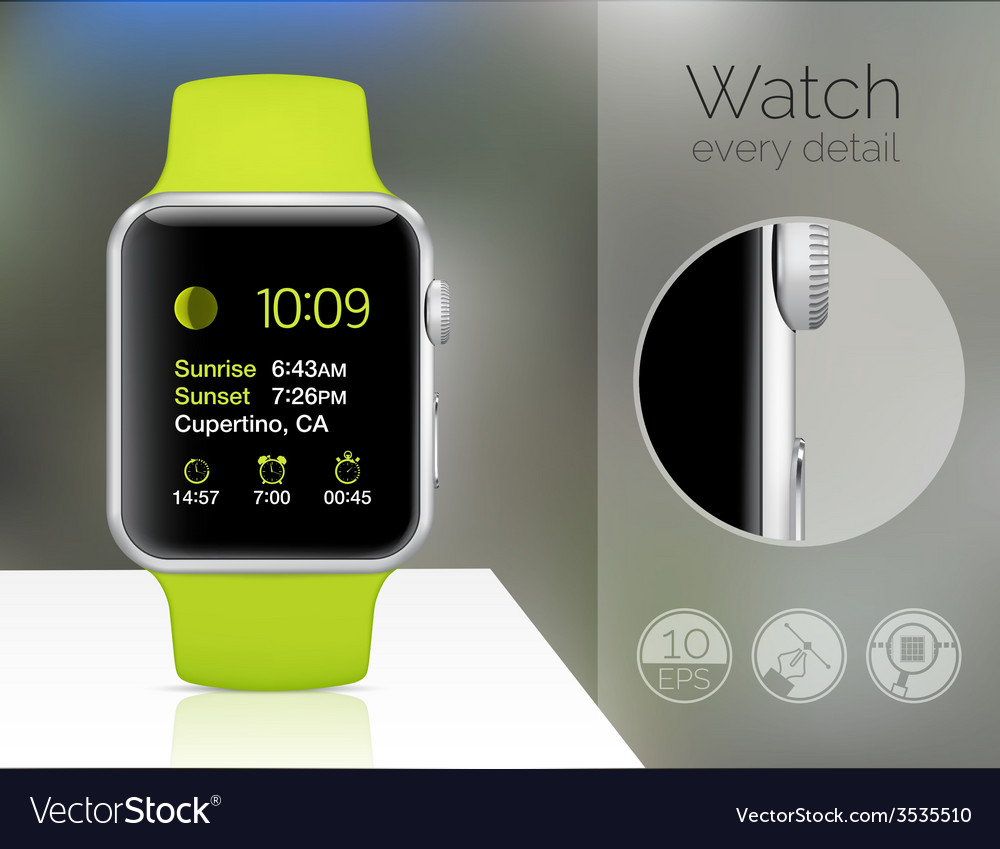 Smart watch isolated vector | Price: 1 Credit (USD $1)