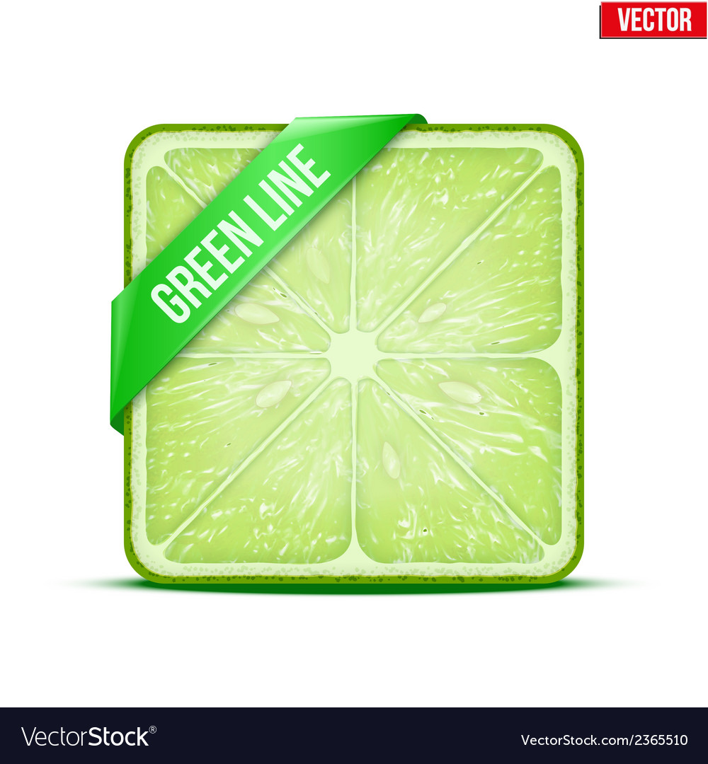 Square slice of lime green line vector | Price: 1 Credit (USD $1)