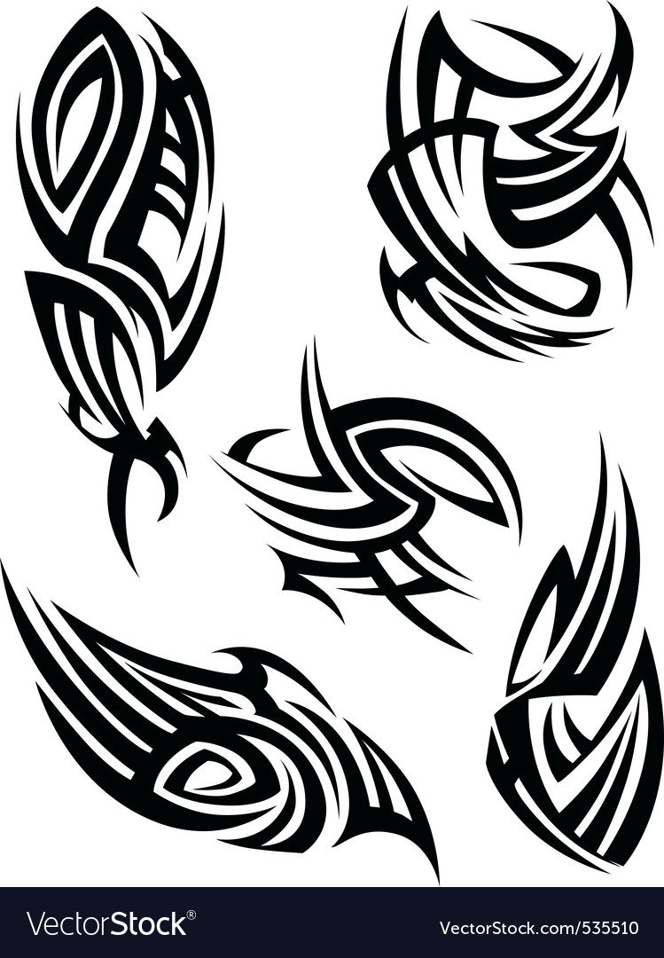 Tribal tattoo design element vector | Price: 1 Credit (USD $1)