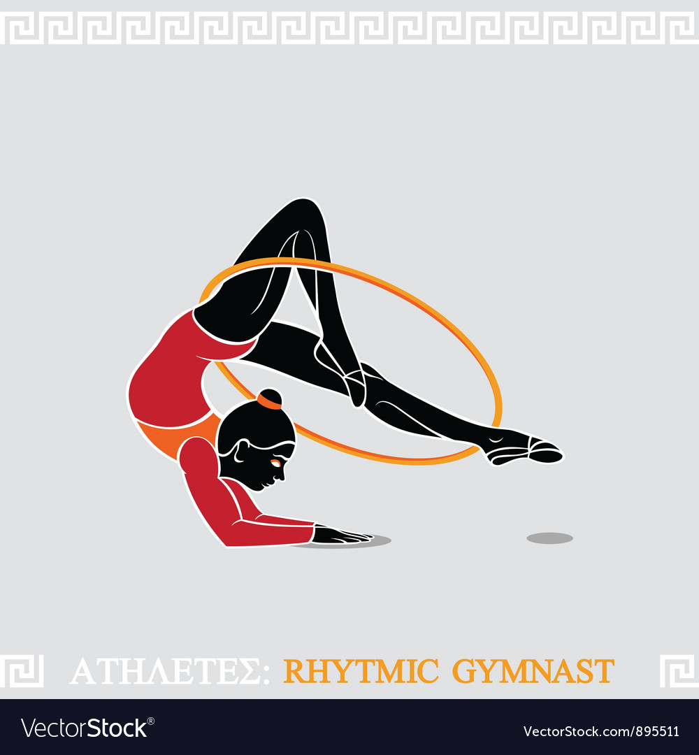 Athlete rhytmic gymnast vector | Price: 3 Credit (USD $3)