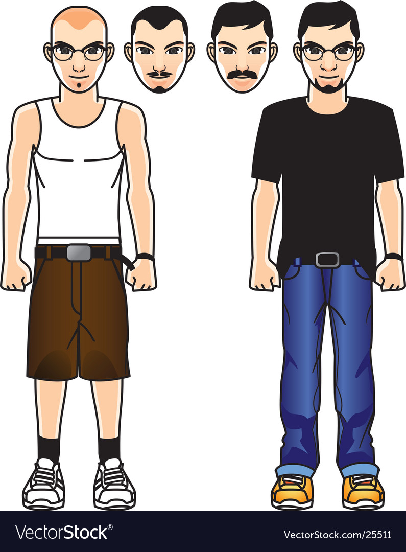 Comic male figure vector | Price: 3 Credit (USD $3)