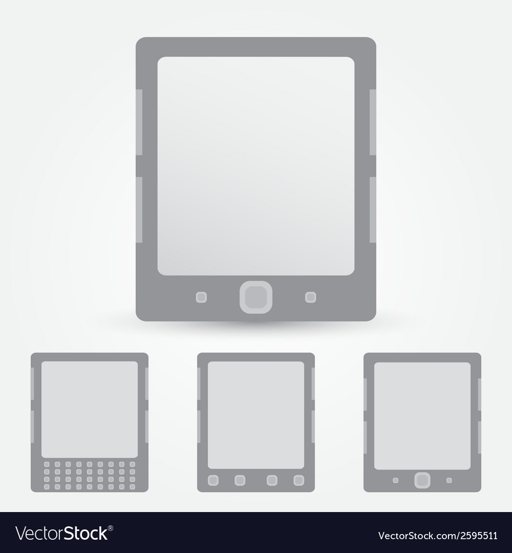 E-book reader icon vector | Price: 1 Credit (USD $1)