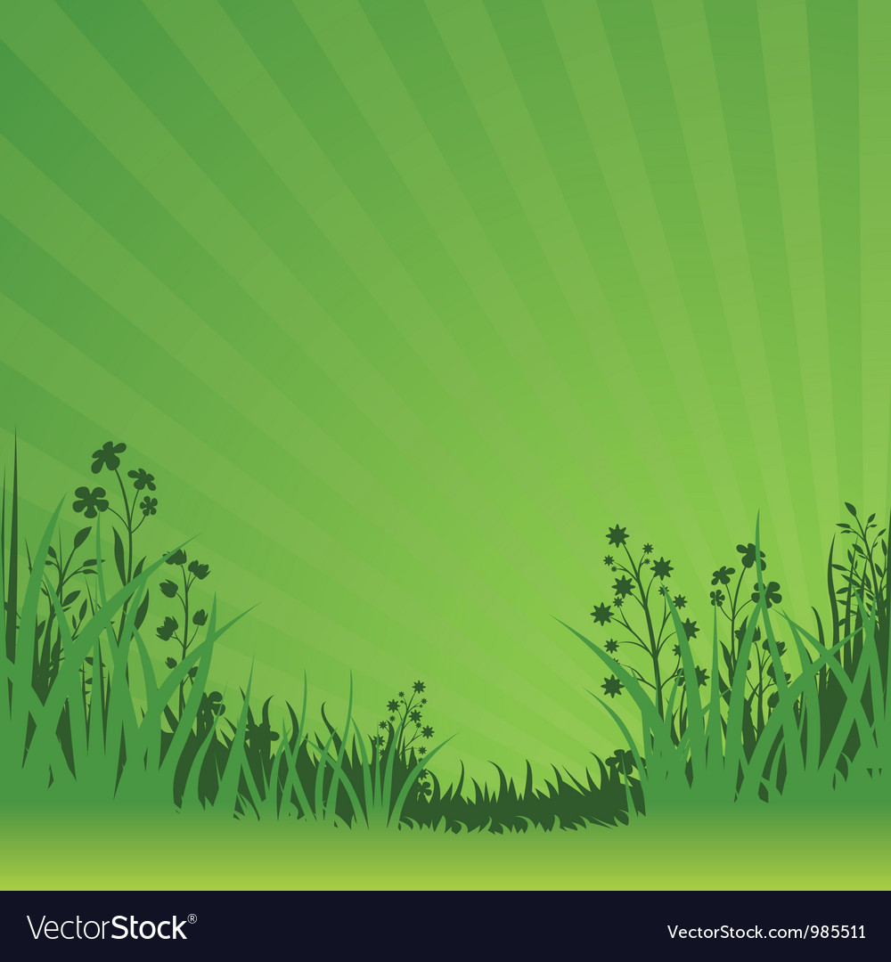 Green nature background vector | Price: 1 Credit (USD $1)