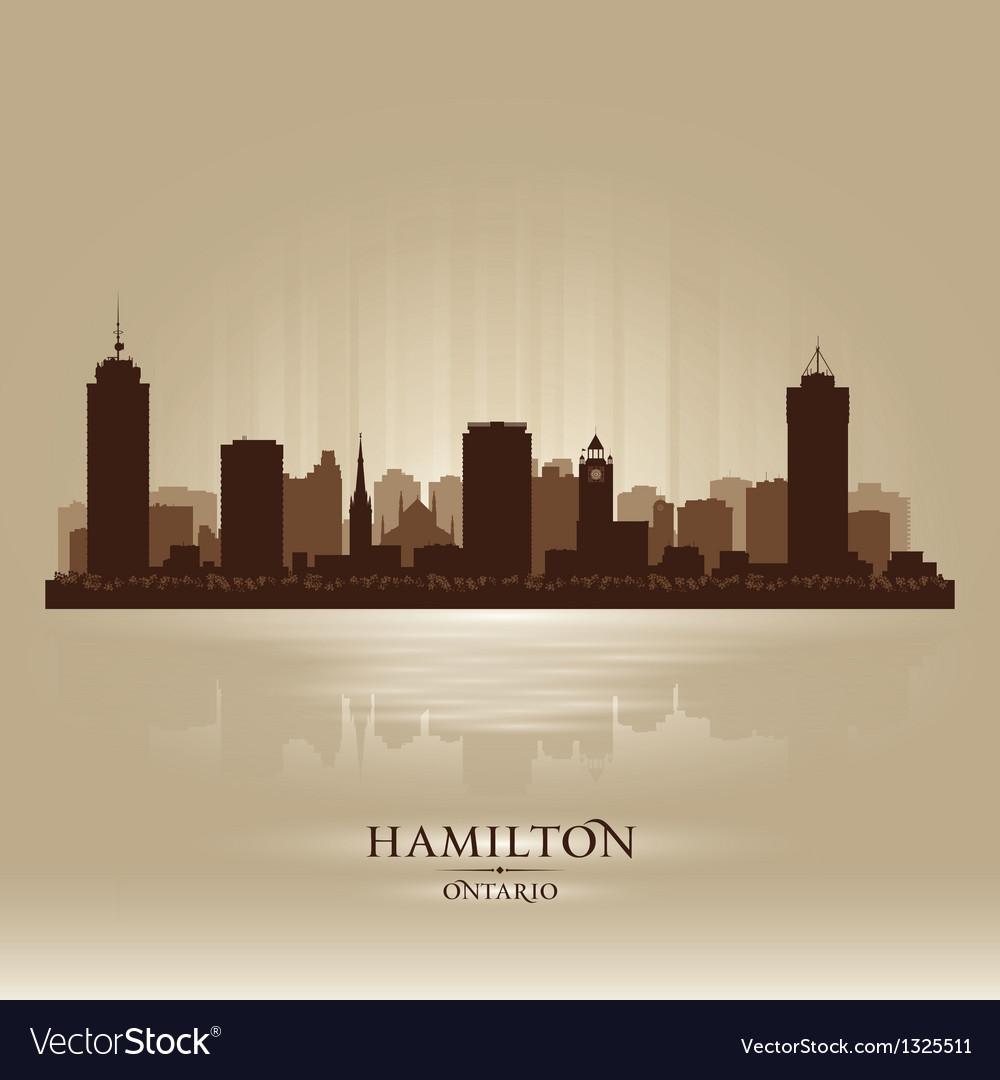 Hamilton canada skyline city silhouette vector | Price: 1 Credit (USD $1)