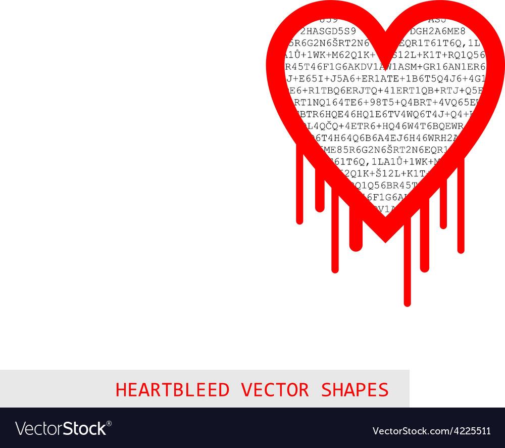 Heartbleed openssl bug shape vector | Price: 1 Credit (USD $1)