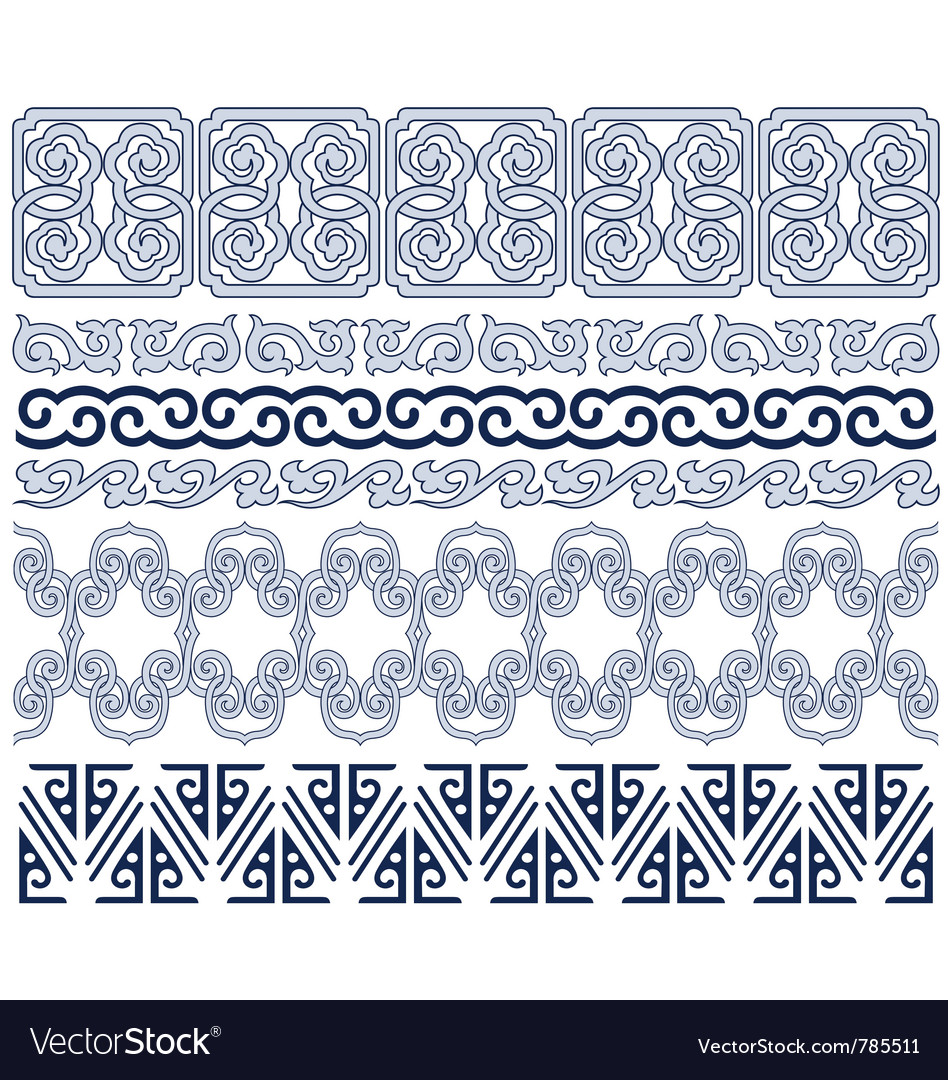 Oriental border vector | Price: 1 Credit (USD $1)