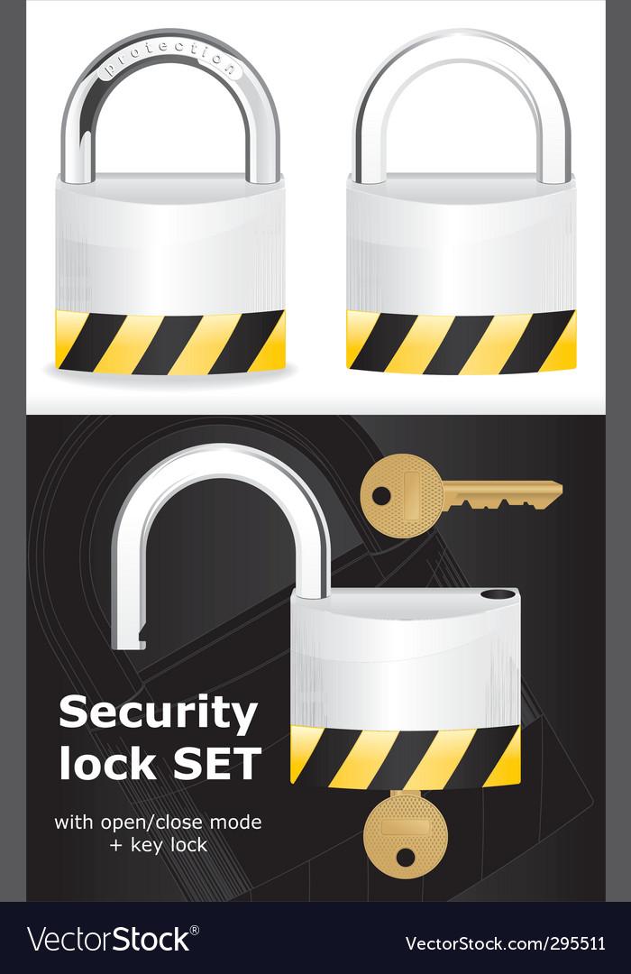 Security lock vector | Price: 3 Credit (USD $3)