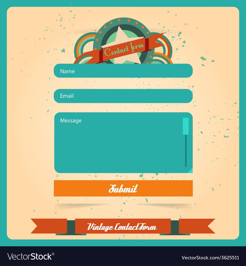 Simple retro vintage contact us form templates vector   Price: 1 Credit (USD $1)