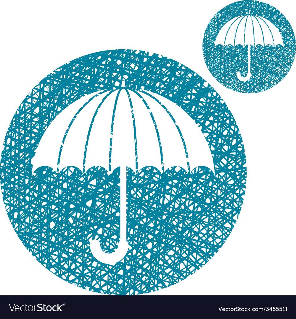 Umbrella simple single color icon isolated on vector   Price: 1 Credit (USD $1)