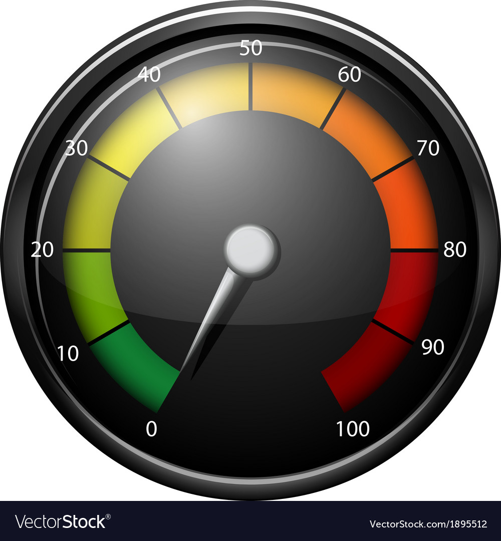 A speed meter device vector | Price: 1 Credit (USD $1)