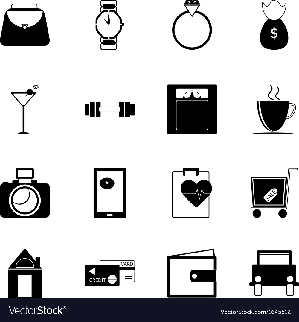 Adult lifestyle icons on white background vector | Price: 1 Credit (USD $1)