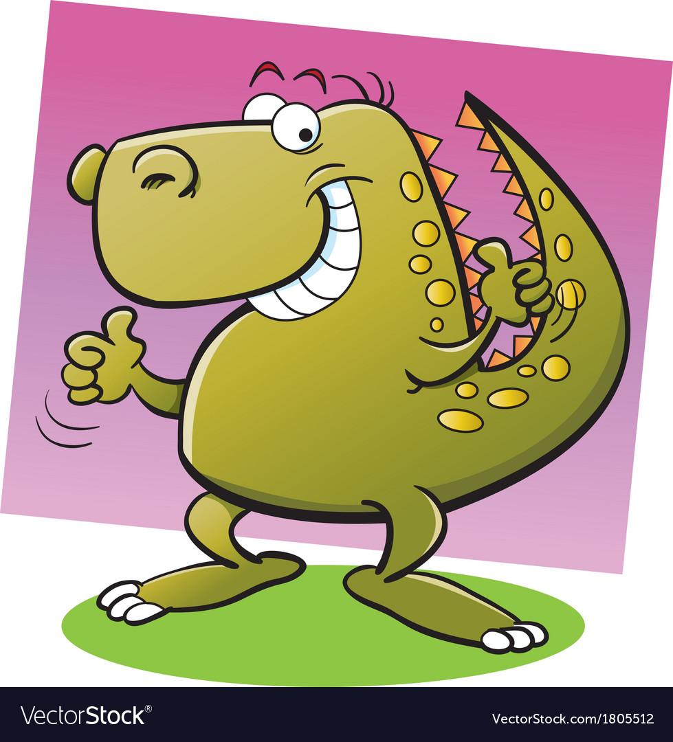 Cartoon tyrannosaurus rex vector | Price: 1 Credit (USD $1)