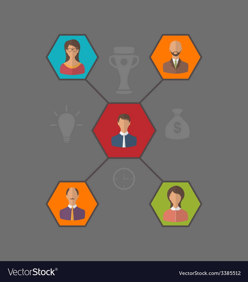 Concept of leadership and team business people vector | Price: 1 Credit (USD $1)