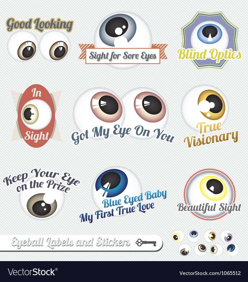 Eyeball labels and icons vector | Price: 1 Credit (USD $1)
