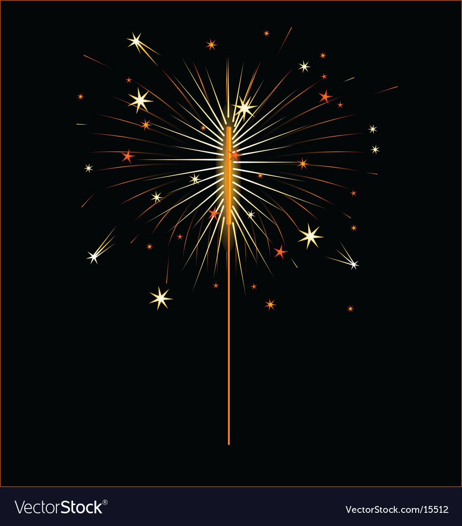 Fourth of july sparkler vector | Price: 1 Credit (USD $1)