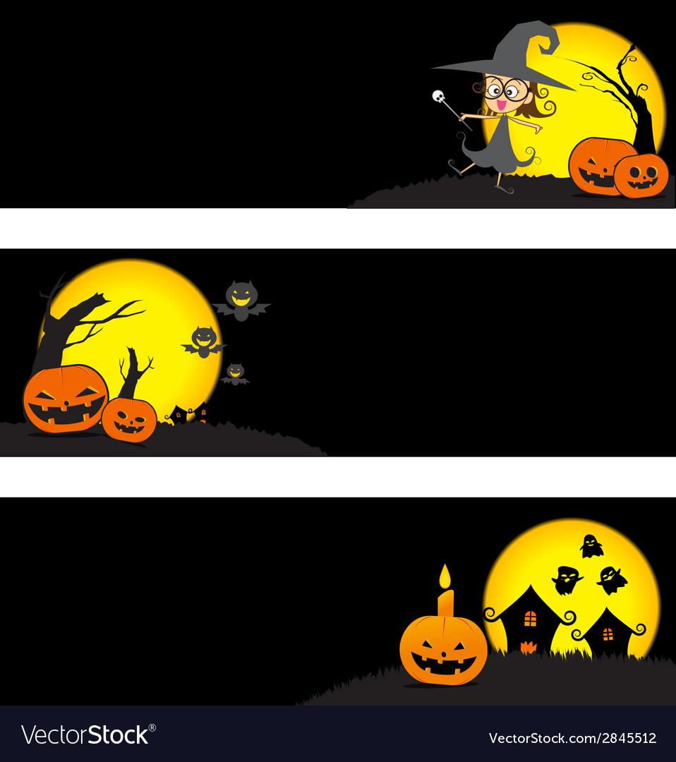 Halloween banner vector   Price: 1 Credit (USD $1)