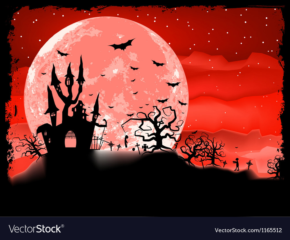 Halloween poster with zombie background eps 8 vector | Price: 1 Credit (USD $1)