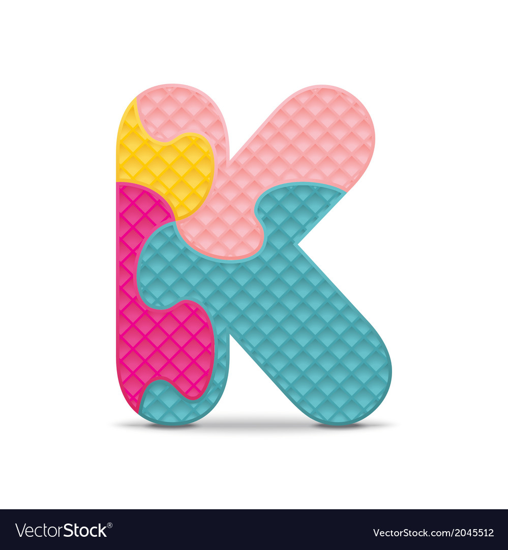 Letter k written with alphabet puzzle vector | Price: 1 Credit (USD $1)