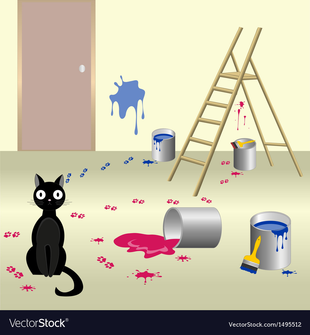 Naughty cat 6 vector | Price: 3 Credit (USD $3)