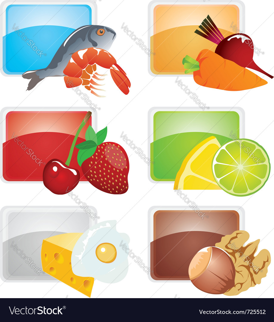 Set of food - icons vector | Price: 1 Credit (USD $1)