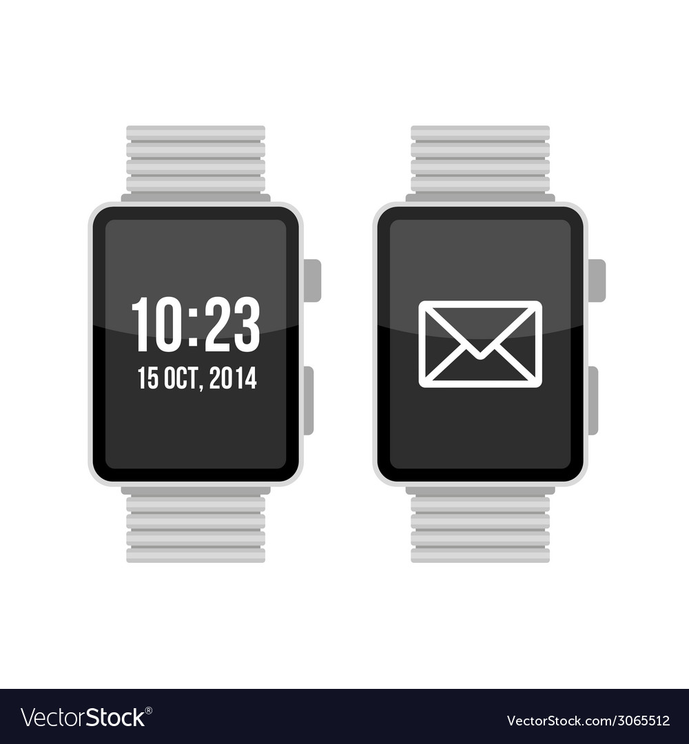 Smart watch set on white background vector | Price: 1 Credit (USD $1)