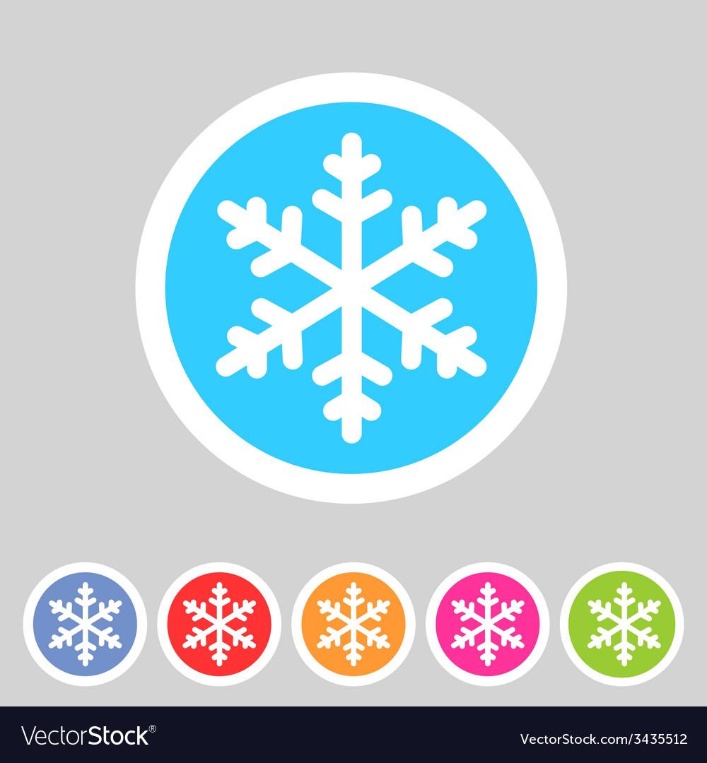 Snowflake flat icon vector | Price: 1 Credit (USD $1)