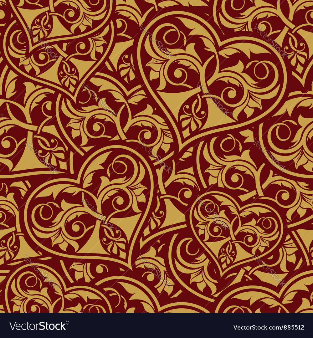 Wedding seamless wallpaper vector | Price: 1 Credit (USD $1)