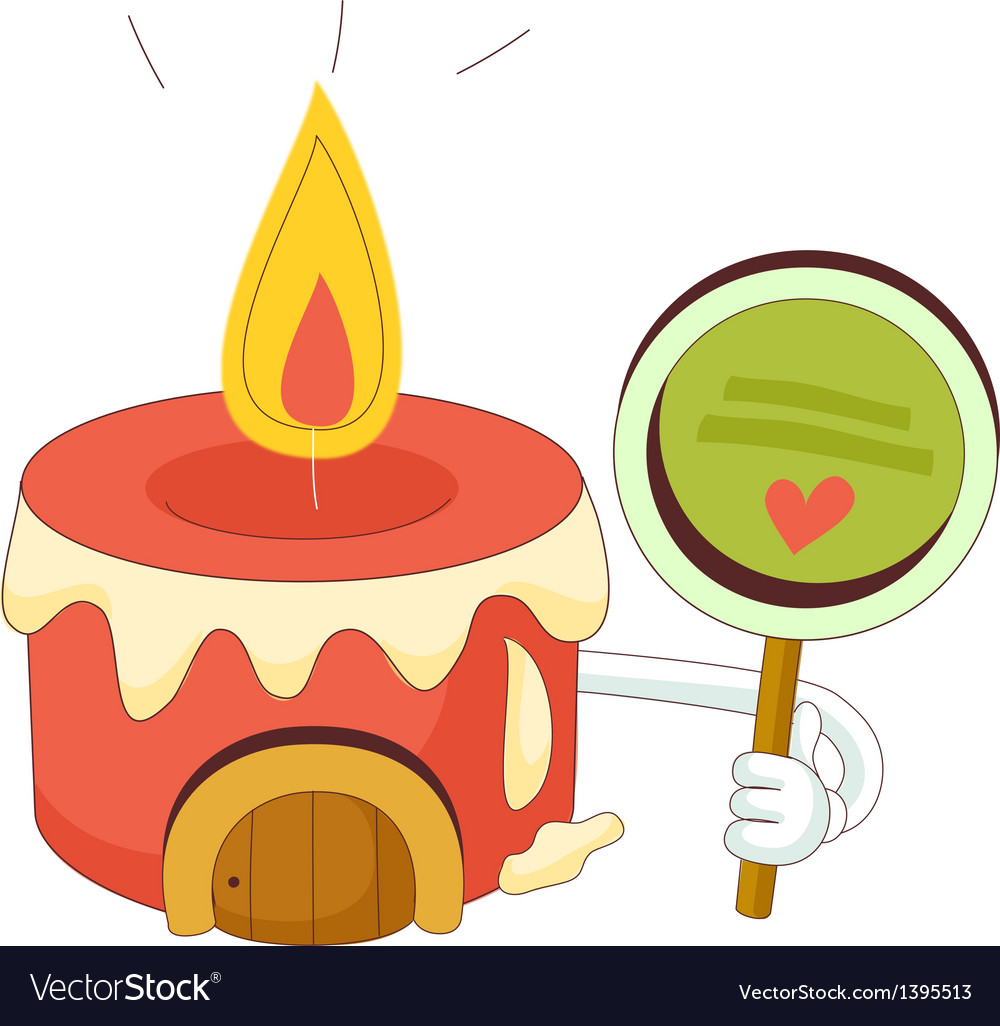 A view of candle vector