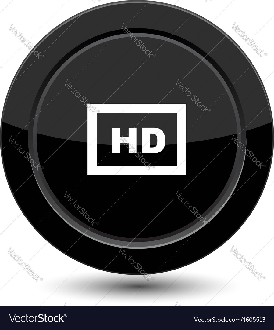Button with hd vector | Price: 1 Credit (USD $1)