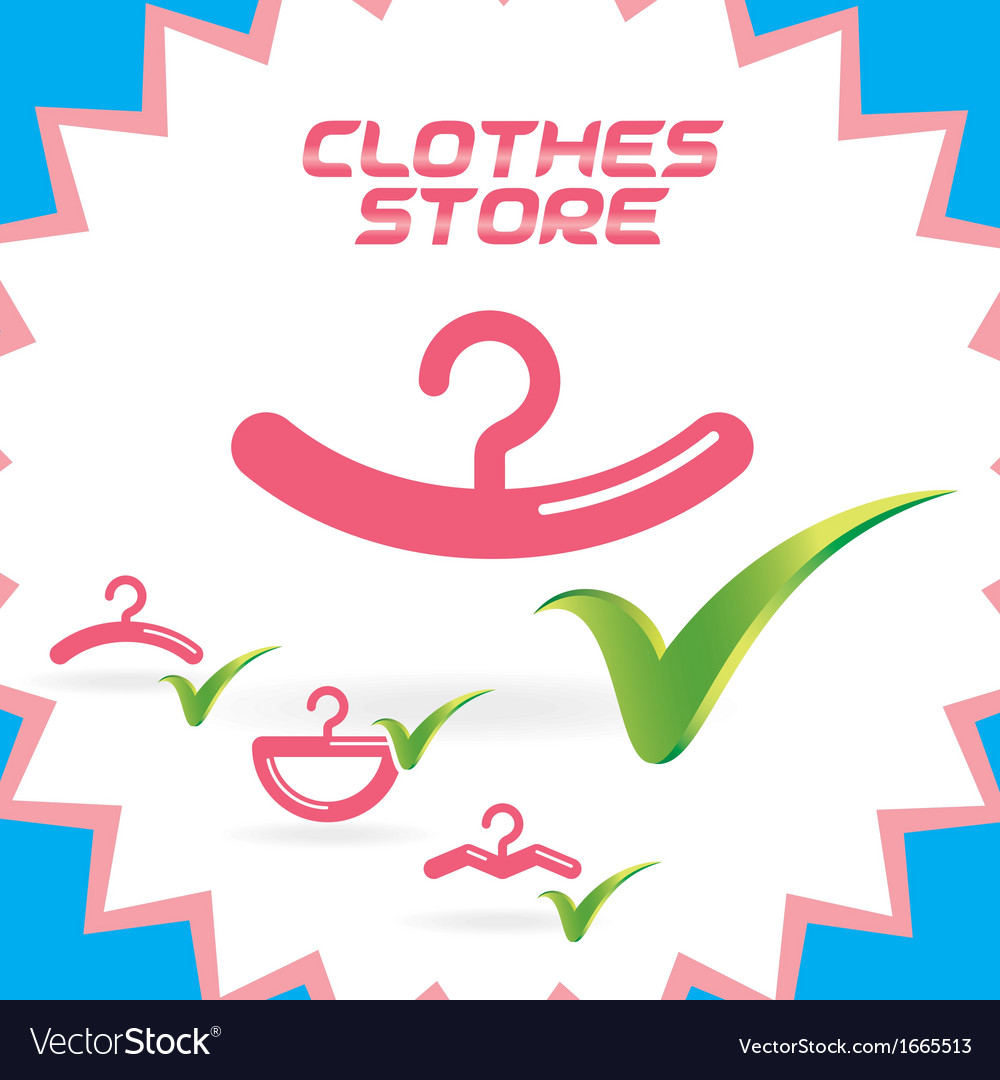 Clothes shop icons vector | Price: 1 Credit (USD $1)