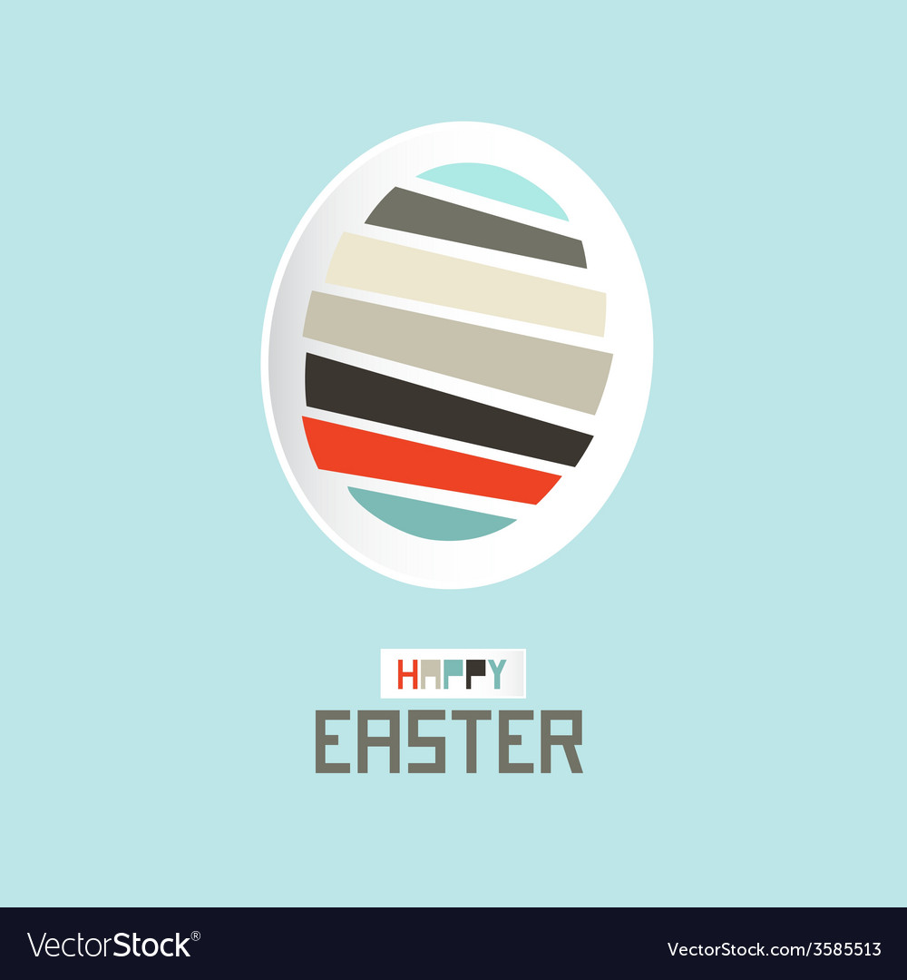 Easter paper cut egg vector   Price: 1 Credit (USD $1)