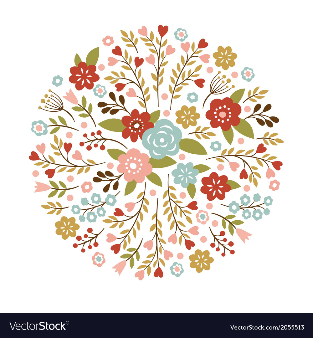 Floral for a greeting card or other vector | Price: 1 Credit (USD $1)