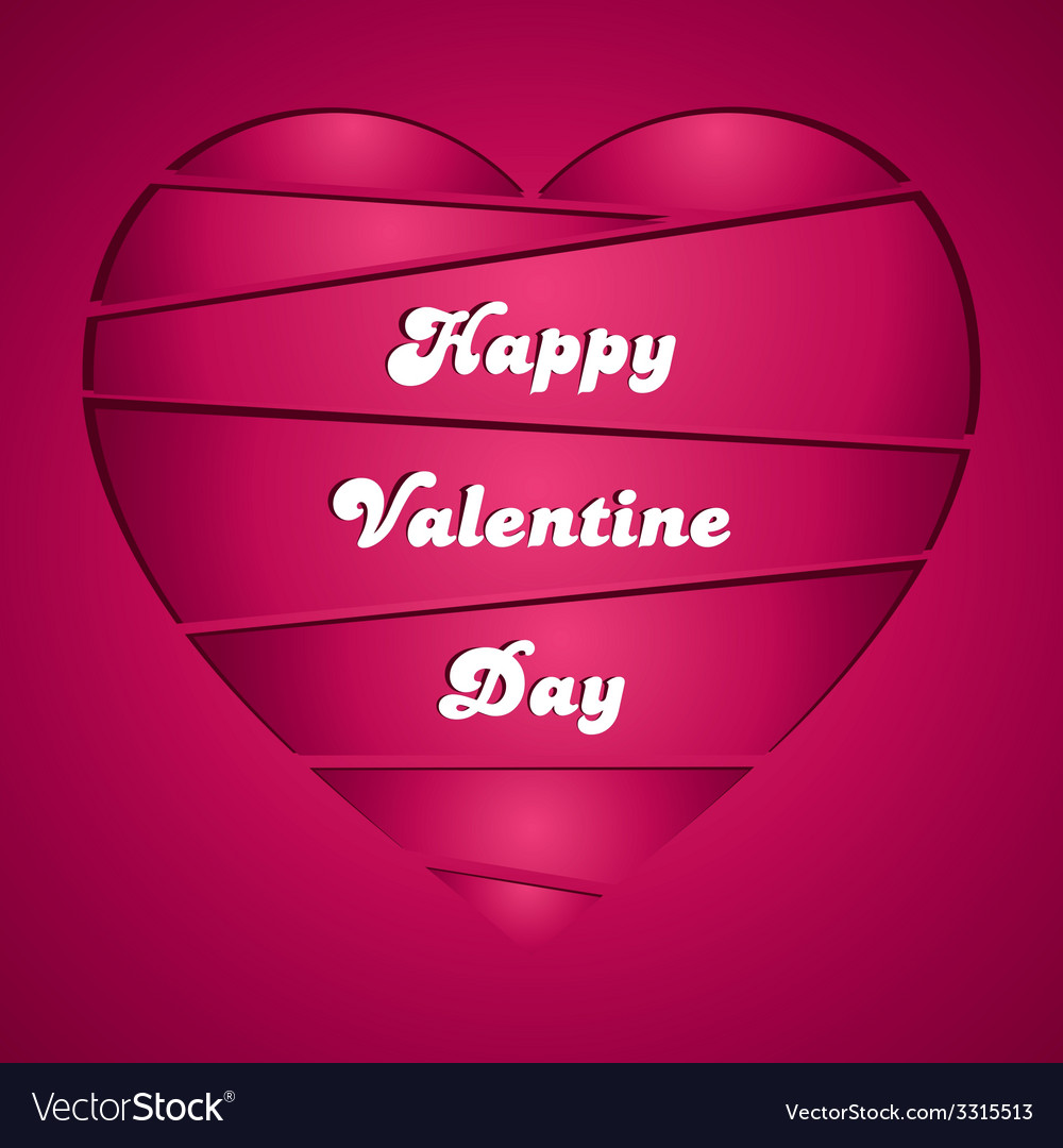Happy valentines greeting card vector | Price: 1 Credit (USD $1)