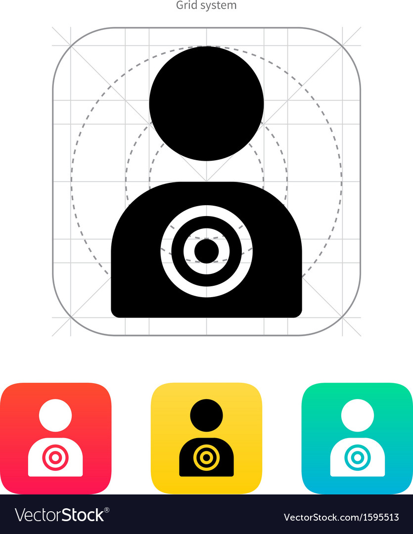 Human target icon vector | Price: 1 Credit (USD $1)