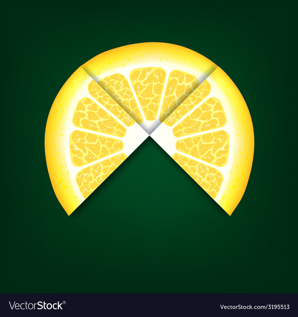 Lemons segments background vector | Price: 1 Credit (USD $1)
