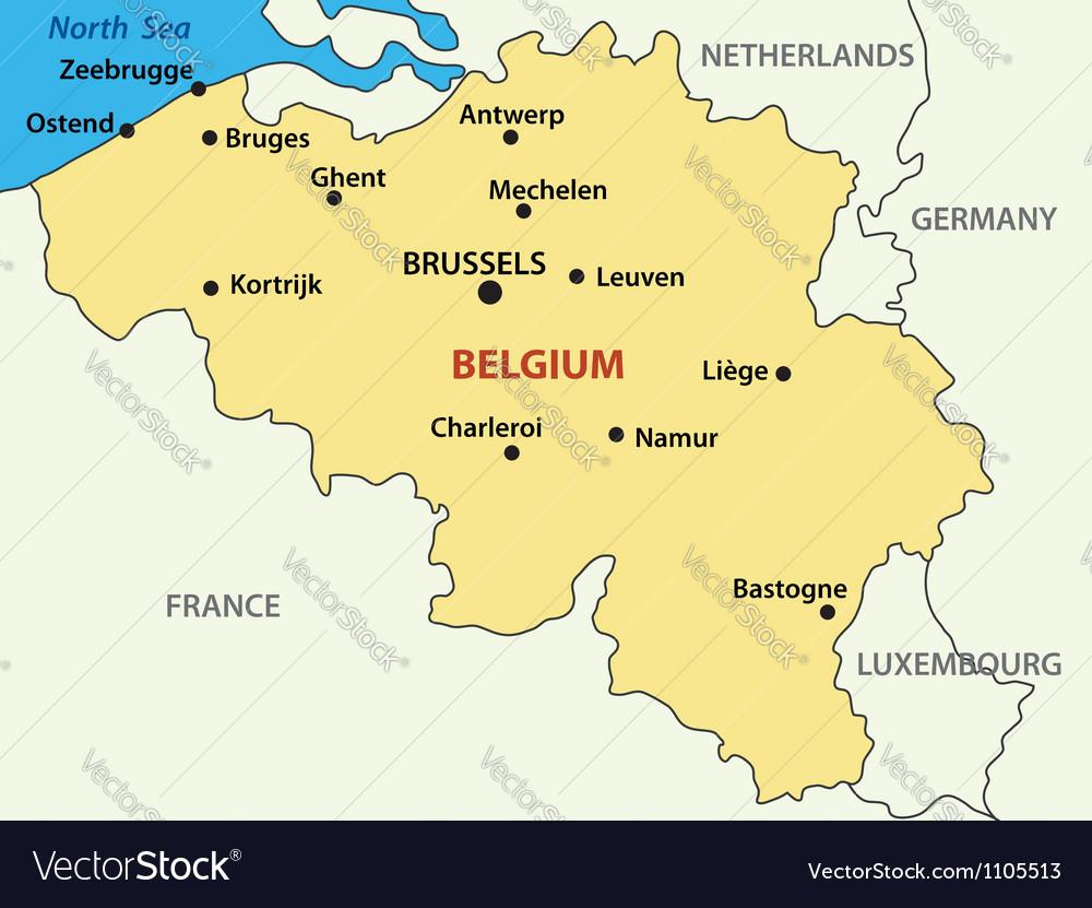 Map - kingdom of belgium vector | Price: 1 Credit (USD $1)