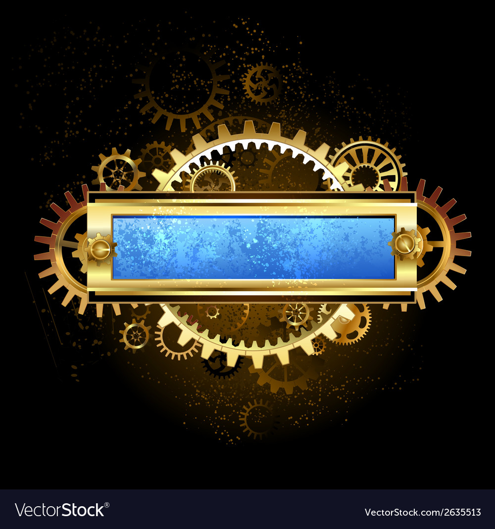 Mechanical blue banner vector | Price: 1 Credit (USD $1)