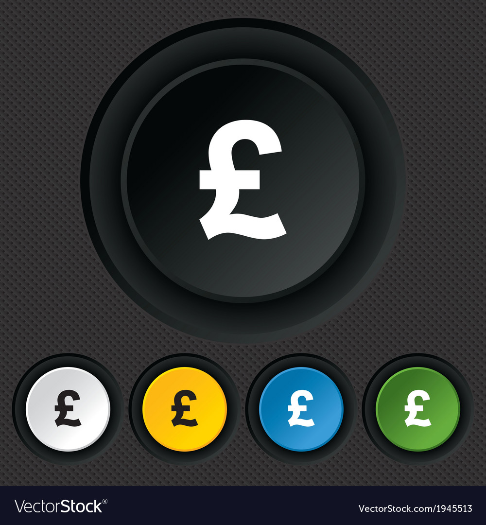 Pound sign icon gbp currency symbol vector | Price: 1 Credit (USD $1)
