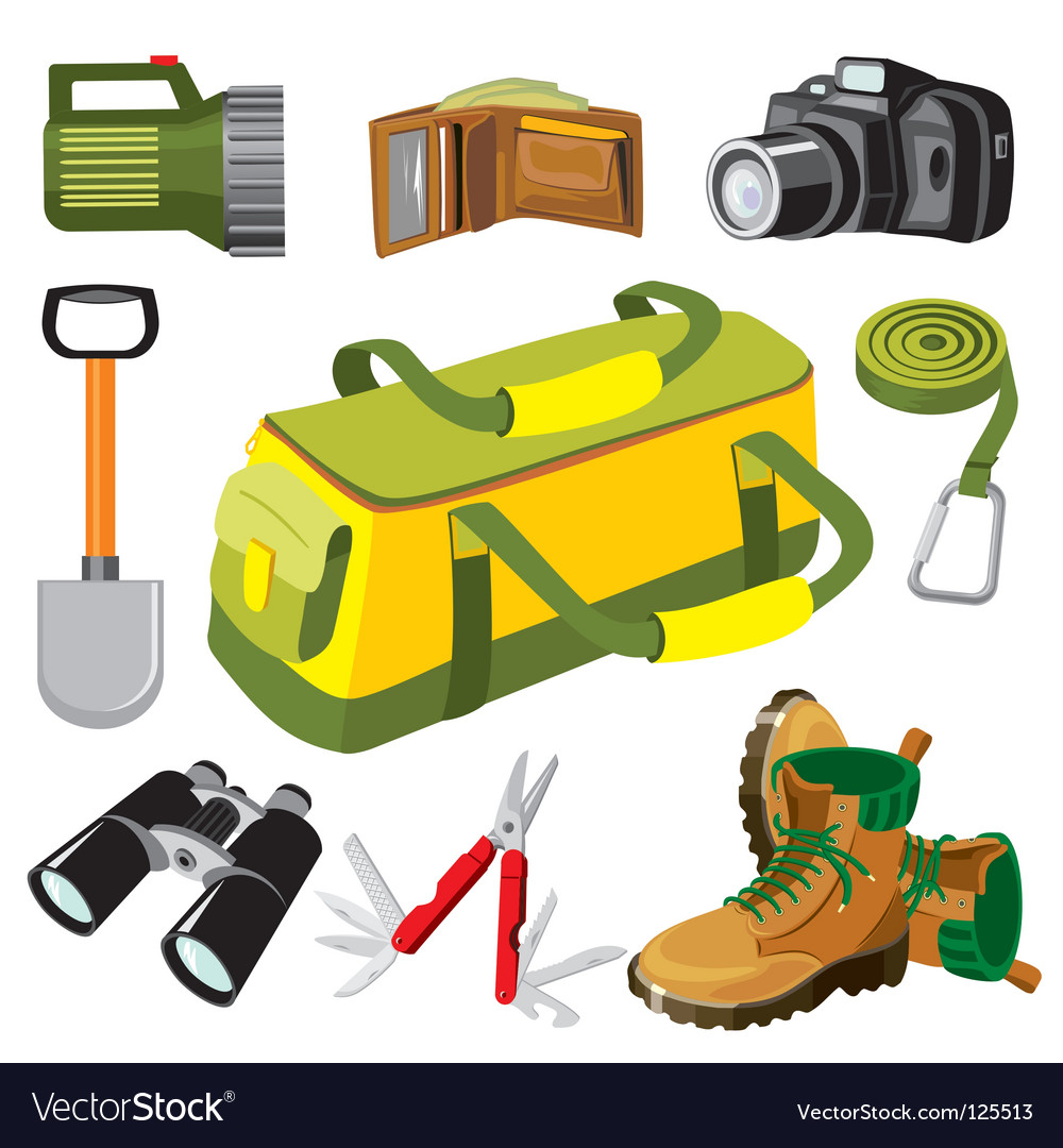 Travel objects vector | Price: 1 Credit (USD $1)