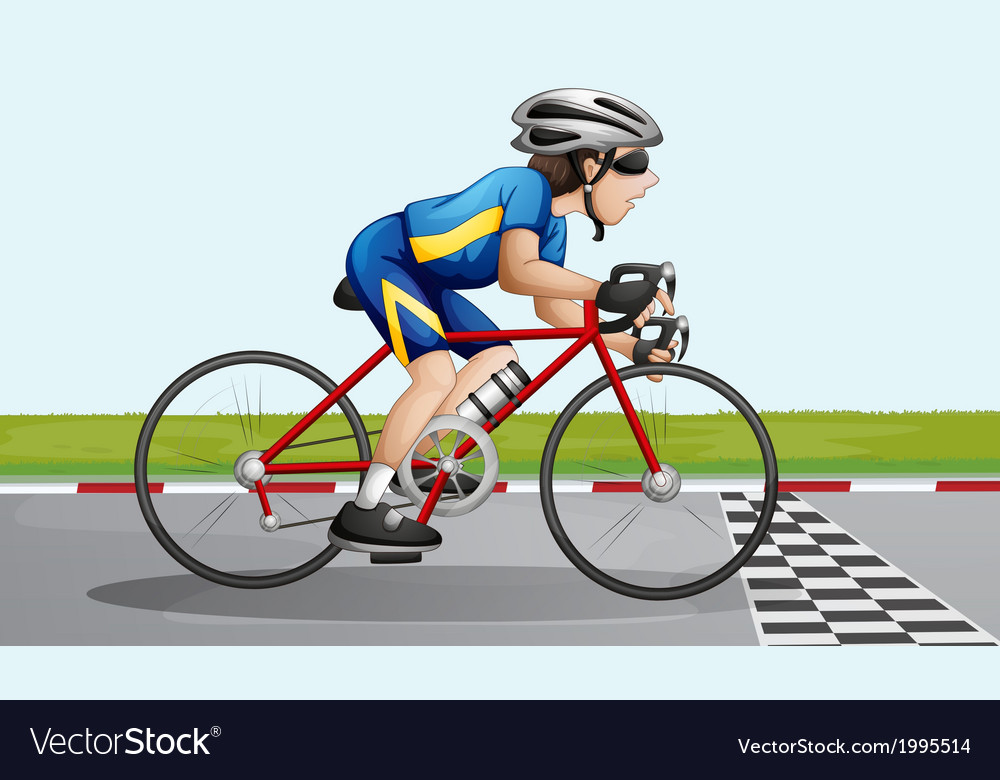 A bike racing vector | Price: 3 Credit (USD $3)