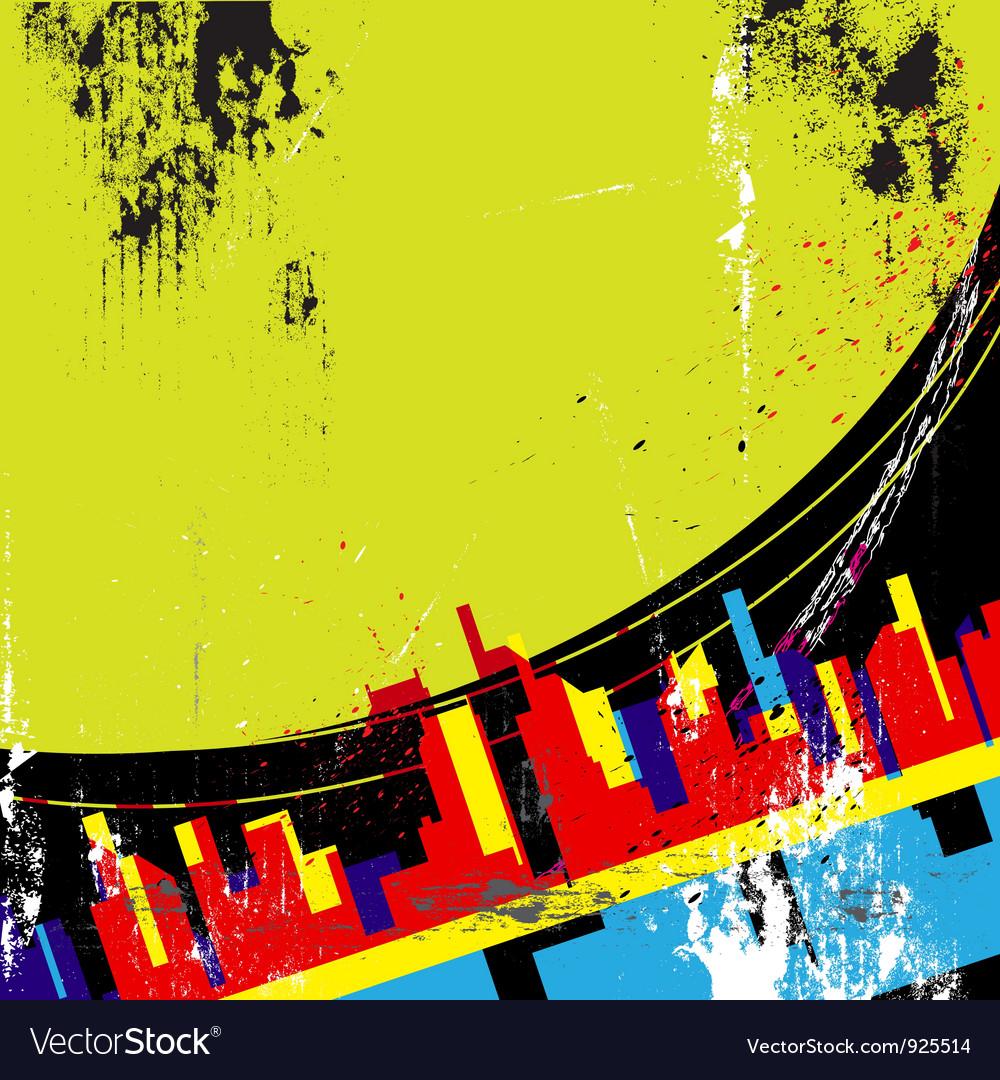 Abstract urban design vector | Price: 1 Credit (USD $1)